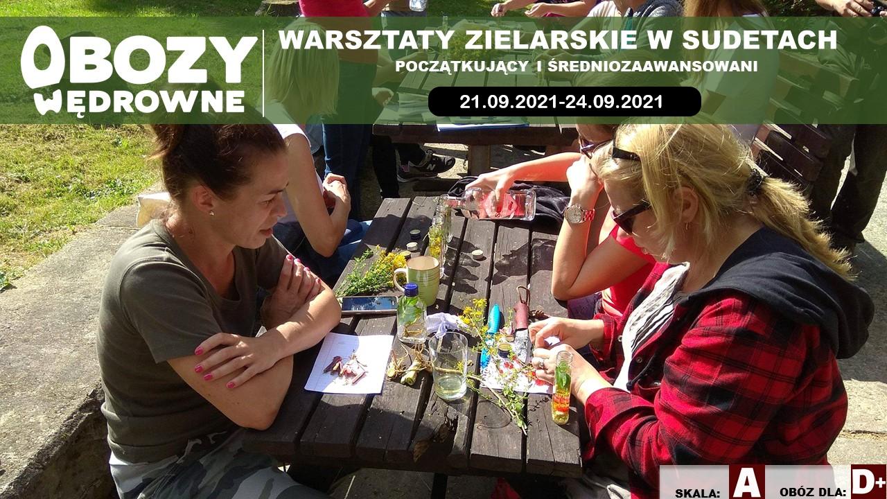 BRAK WOLNYCH MIEJSC Warsztaty Zielarskie Sudety. (Początkujący i średniozaawansowani) – edycja 3/2021