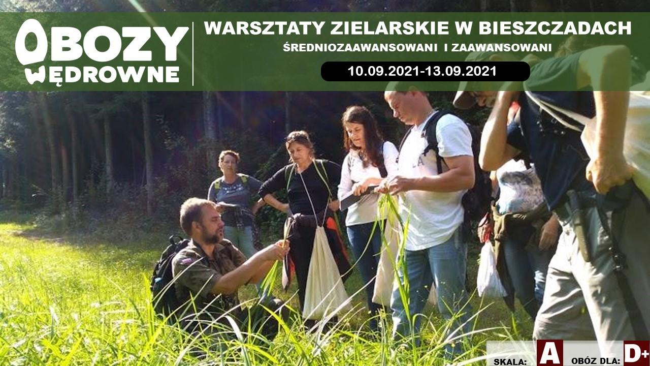 BRAK WOLNYCH MIEJSC Warsztaty Zielarskie Bieszczady. (Średniozaawansowani i zaawansowani) – edycja 3/2021