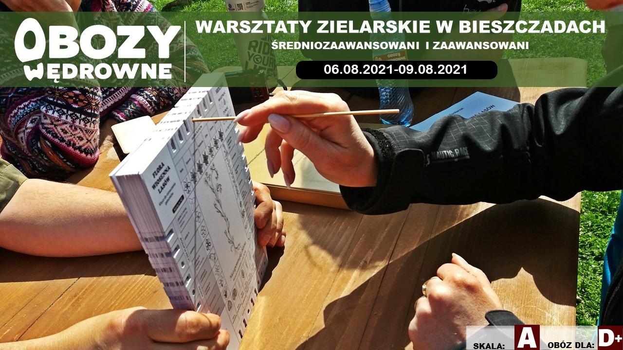 BRAK WOLNYCH MIEJSC Warsztaty Zielarskie Bieszczady. (Średniozaawansowani i zaawansowani) – edycja 2/2021